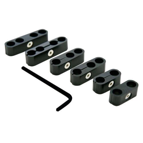 Black Billet Aluminum Universal Spark Plug Wire Looms 7/8/9mm Separator SBC BBC