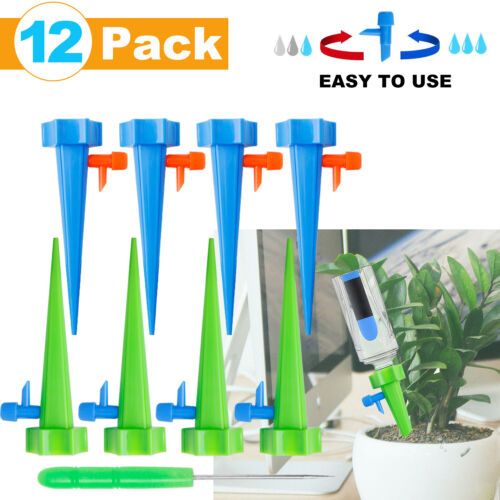 12PCS Summer Plant Automatic Drip Water Release Control Irrigation System Kit US