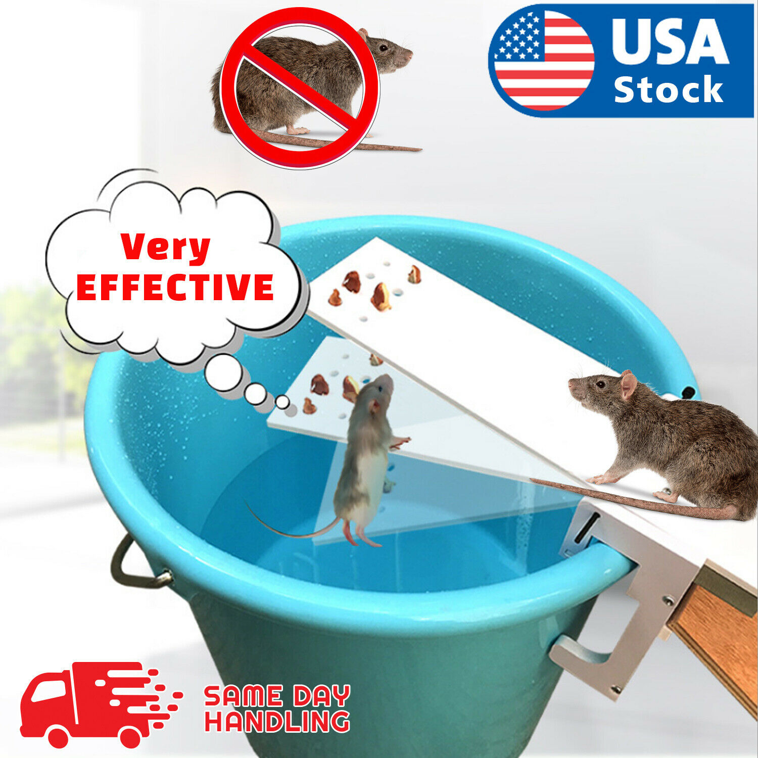 The Walk Plank Mouse Trap – Auto Reset Squirrel Rats Bait Rodent Mice Catcher Animal & Rodent Control