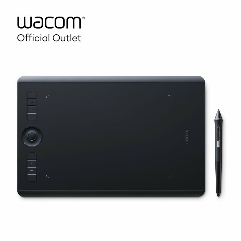 Used Wacom Intuos Pro Medium Digital Graphic Drawing Tablet, SHPTH660