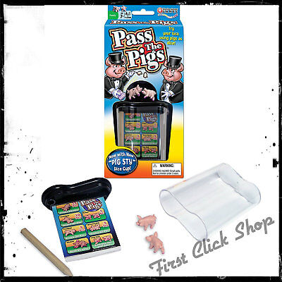 Pass The Pigs Classic Game For Travel And Kids Family Party With Carrying Case