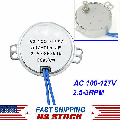 Tyc-50 2.5-3rpm Synchronous Synchron Motor Ac110v Cwccw 4w Torque 12kgf.cm Usa