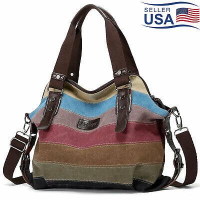 CHARLEENA Hot Canvas Bag Shoulder Bag Tote Purse Messenger Satchel Women Handbag