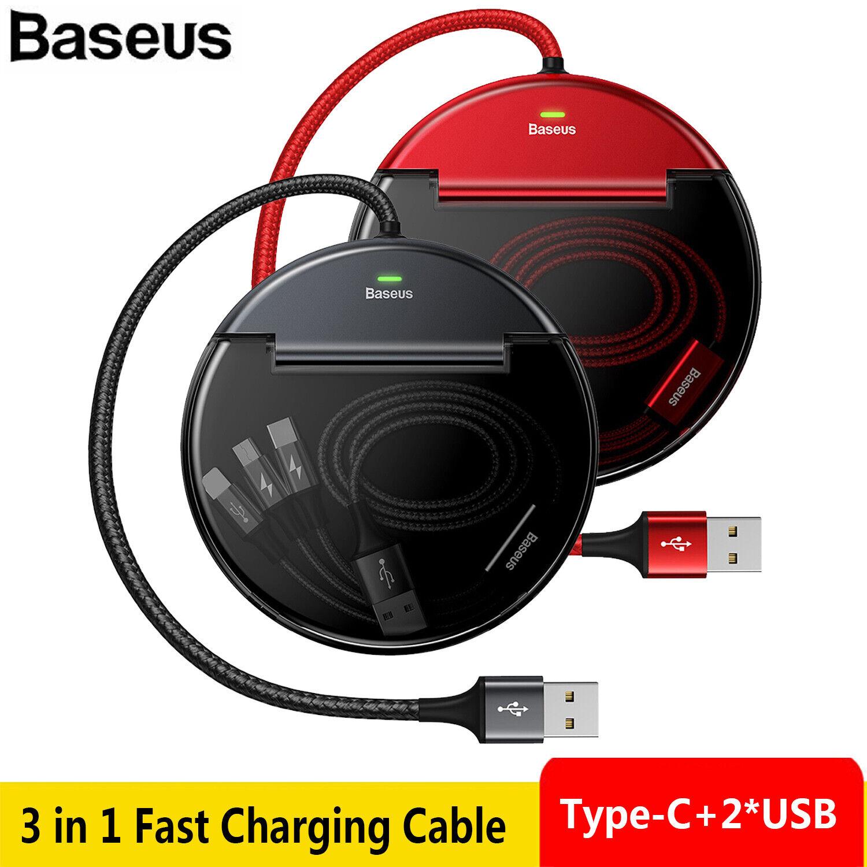 BaseusDual USB+Type-C Car Charger Dock Station 8 Pin 3 in