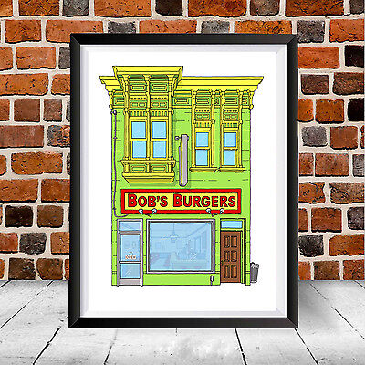Bob's Burgers House Poster Print Louise Linda Belcher Home Art Cartoon Fox Gift