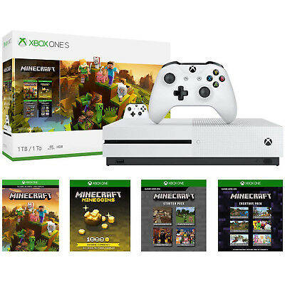 Microsoft Xbox One S 1TB Gaming Technique and Minecraft Creators Bundle - White