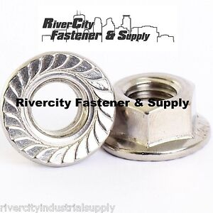 (25) M8-1.25 or 8mm x 1.25 A2 Stainless Serrated Flange Lock Nut Spin Wiz Nuts