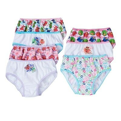 PJ MASKS Girls 7-Pack Brief Bikini Panty Toddler Underwear 7-Pack Brief Bikini Panty Toddler Underwear Underwear
