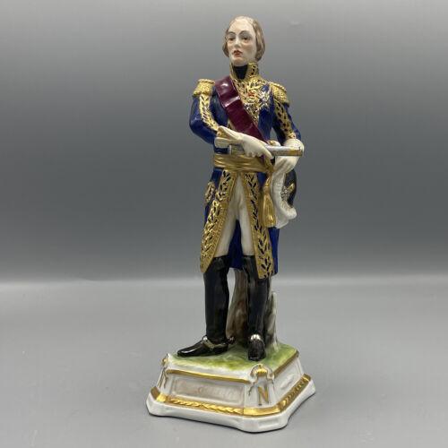 Antique Figurine Porcelain Marshal Mac Donald Painted Period Beginning
