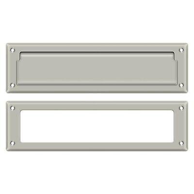 Deltana MS211U15 Mail Slot With Interior Frame, Satin Nickel (15 Satin Nickel Frame)