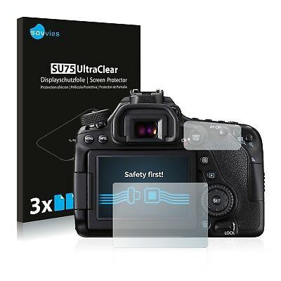 6x Displayschutzfolie für Canon EOS 80D Schutzfolie Klar Folie Displayfolie