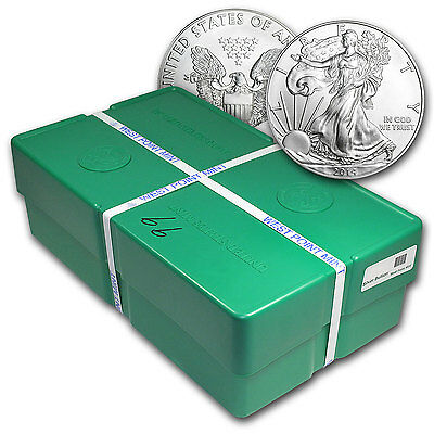Click now to see the BUY IT NOW Price! 2014 500 COIN SILVER EAGLE MONSTER BOX WP MINT SEALED   SKU 83788