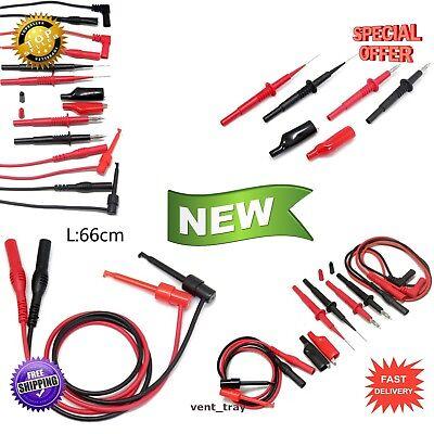 Electronic Test Lead Set - Test Lead Kit Multimeter Fluke Tester Leads Probe Set Banana Electronic Needle