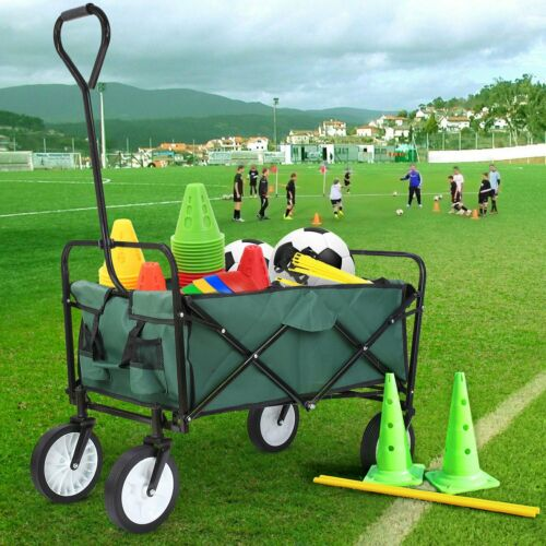 Sports Collapsible Folding Wagon Shopping Cart Utility Buggy