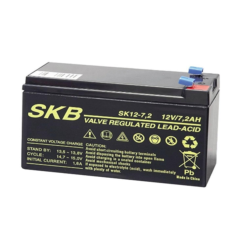 Batteria Ermetica Ricaricabile al Piombo 12V Volt 7,2Ah 7,2A per UPS,ALLARMI