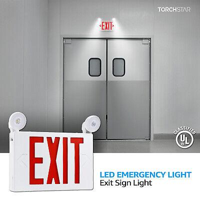 Red Led Exit Sign Ul-listed Emergency Light Ac 120v277v Battery Included
