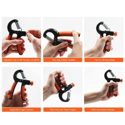 Resistance From 22 to 88 lbs xFitness 2 Pack Adjustable Hand Grip Strengthener