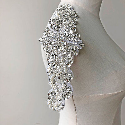 Blumenmuster Perlen Kristall Braut Rand Strass Motiv Tanzend Kostüm - Strass Muster Tanz Kostüm