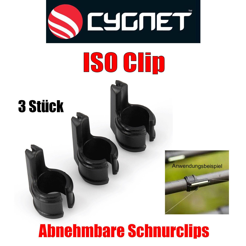 Cygnet ISO Clip - Line Clips Schnur Clips 3Stück - Passen auf die meisten Ruten