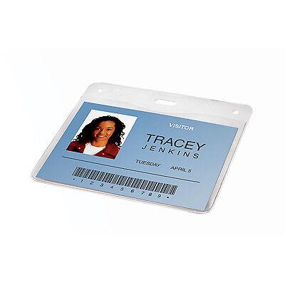 GBC BadgeMates Horizontal Badge ID Holder, 4 x 3, Ultraclear, Pack of (Gbc Badge)
