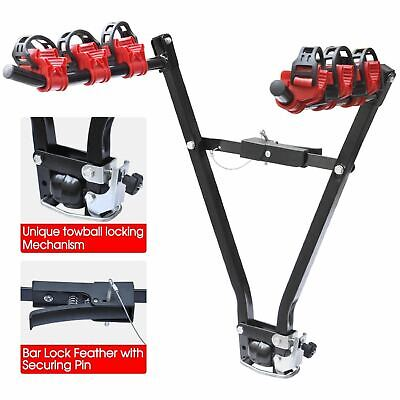 3 BIKE CYCLE BICYCLE MOUNTAIN REAR TOWBAR MOUNT CAR 4X4 CARRIER RACK TOW BALL