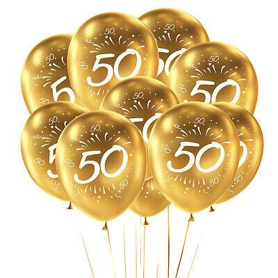 Luftballon Set Zahl 50 für Geburtstag Goldene Hochzeit Party Deko Ballons Gold ()