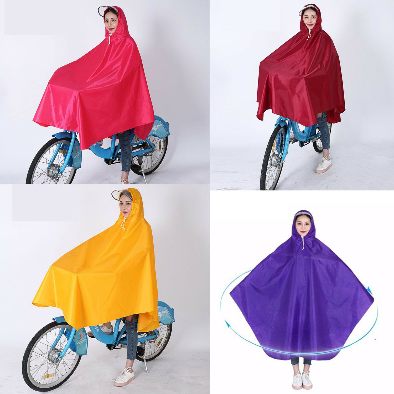 Adult Bike Outdoor Cycling Hooded Raincoat Waterproof Oxford