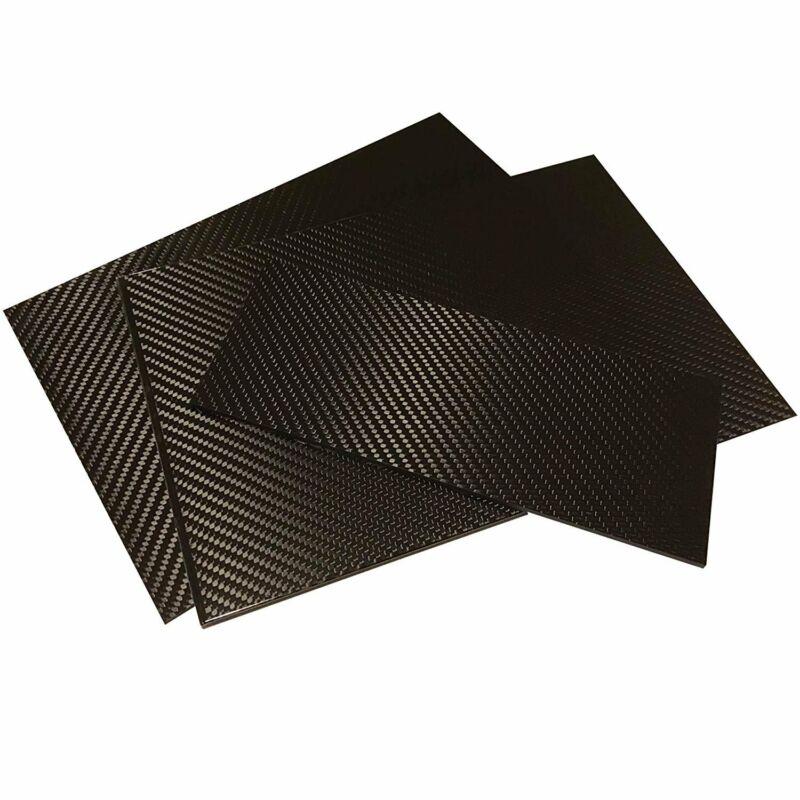 (1) Carbon Fiber Plate - 100mm x 250mm x 1mm Thick - 100% -3K Tow, Plain...