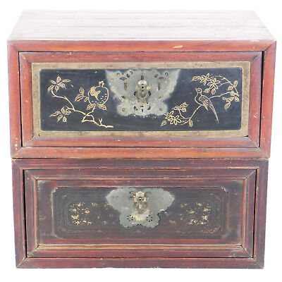 """Pair of Antique Chinese Travel Trunks Chests 31"""" Wide x 20"""" Deep X 14"""" Tall Each"""