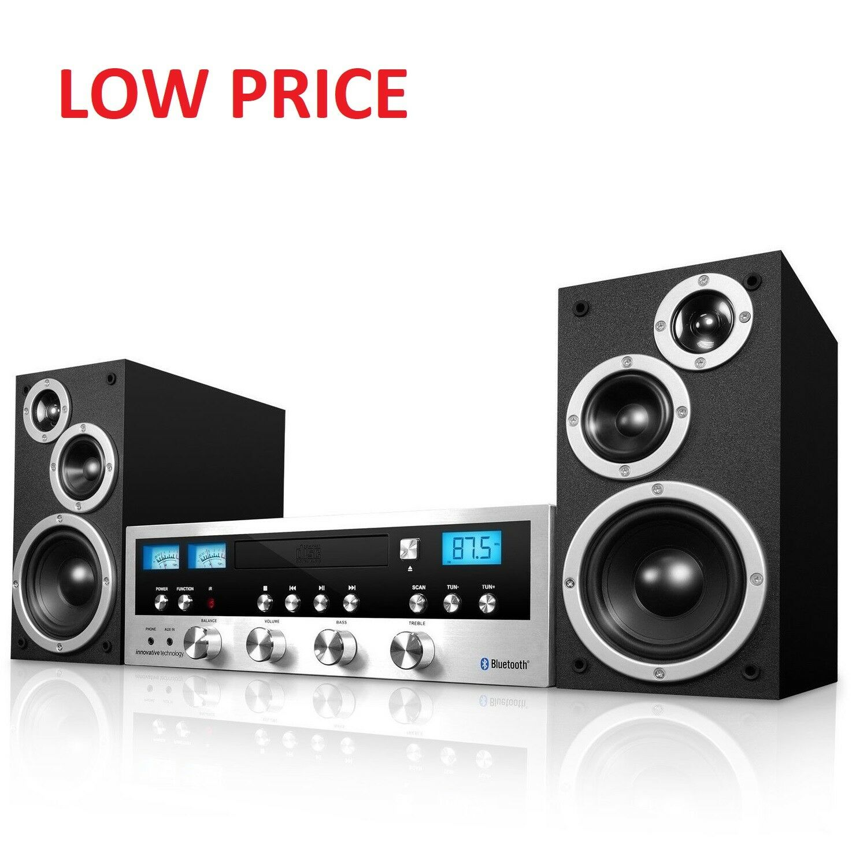 CD Bluetooth Stereo System Home Speaker CD Player FM Radio J