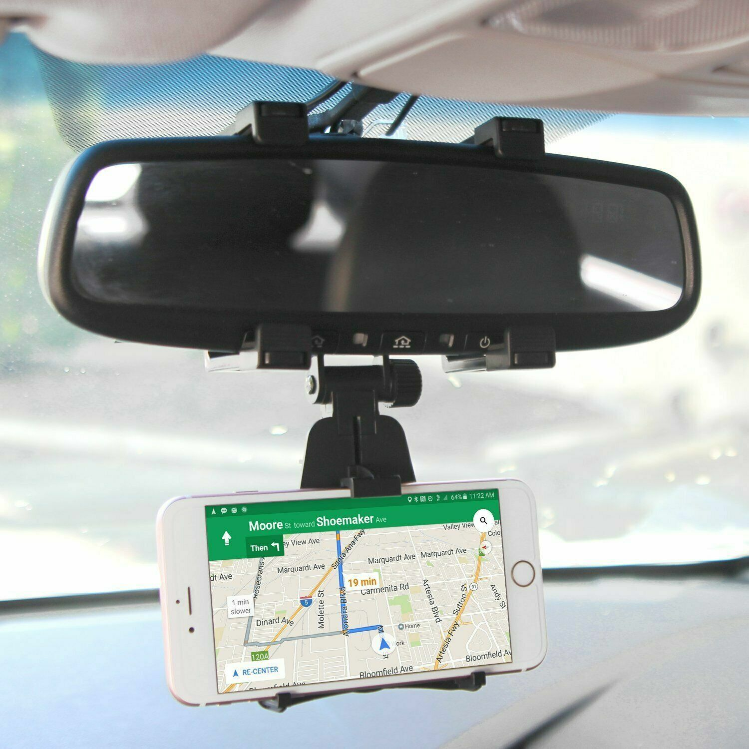 Universal Car Rearview Mirror Mount Phone Holder Stand Cradle For Cell Phone GPS Cell Phone Accessories