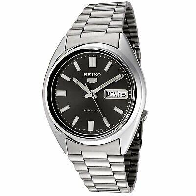 Seiko 5 SNXS79 Automatic 21 Jewels Black Dial Stainless Steel Men Watch SNXS79K1