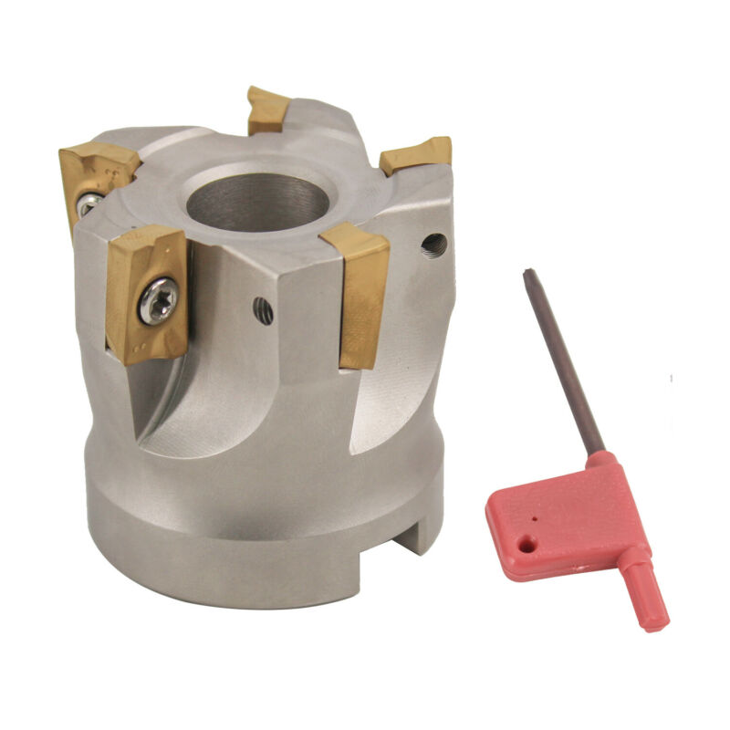 """2""""x 3/4"""" 90 Deg. Square Shoulder Indexable Face Mill , Include 10 pcs APMT 1604"""