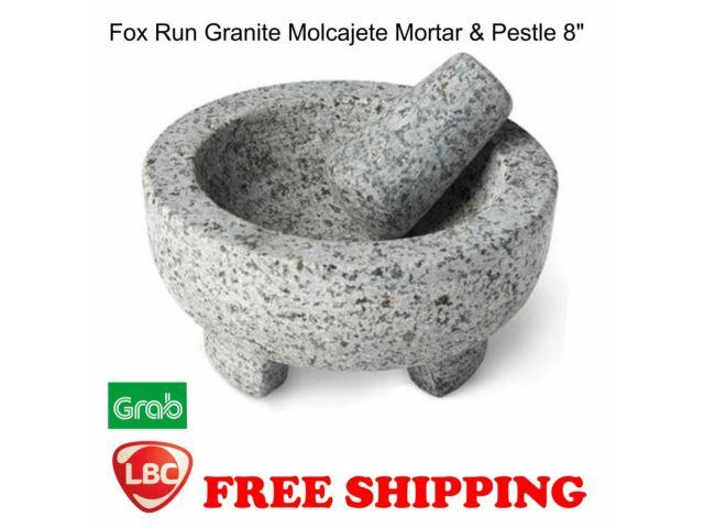 """Fox Run Granite Molcajete Mortar and Pestle 8"""" diameter"""