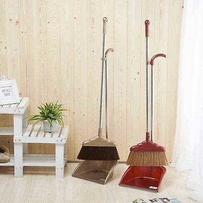 High Quality Broom Dustpan Set For Home Floor Cleaning,Brown/ Red ()