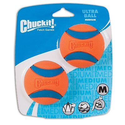 Chuckit! Dog Fetch Toy ULTRA BALL Durable Rubber Fits Launcher MEDIUM Dog Rubber Fetch Toy
