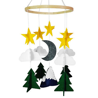 Baby Crib Mobiles Nursery Felt Decoration-Bassinet Pack n Play Moms House Stars