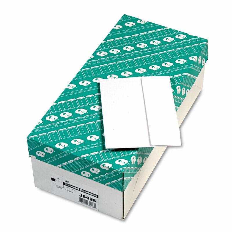 Quality Park Greeting Card/Invitation Envelope Contemporary #6 White 500/Box
