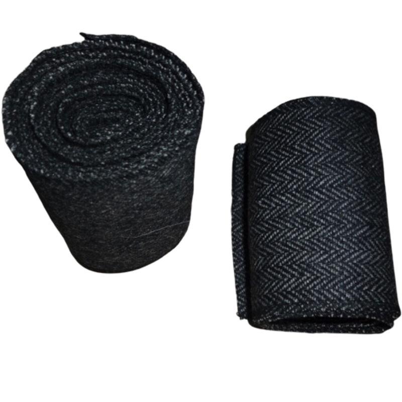 Medieval-SCA-LARP Reenactment Viking Wool Leg Wraps Herringbone t477