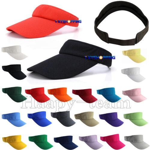Women Men Sun Visor Hat Headband Wide Brim Summer Adjustable Beach Cap Unisex Clothing, Shoes & Accessories