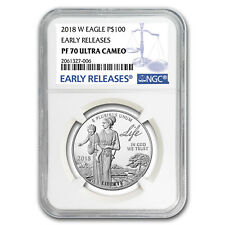 2018-W 1 oz Proof Platinum American Eagle PF-70 NGC (ER) - SKU#153275