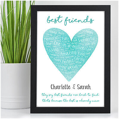 PERSONALISED Best Friend Christmas Birthday Gifts for Her Female Friendship Xmas ()
