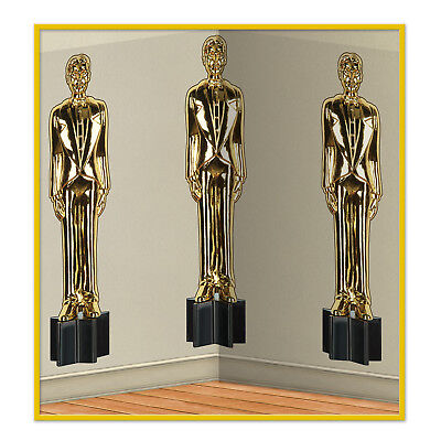 HOLLYWOOD Awards Night Party Decoration MOVIE BUFF Statue WALL MURAL BACKDROP](Awards Night Decorations)