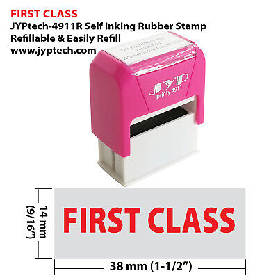 First Class - Jyp 4911r Self Inking Rubber Stamp Red Ink