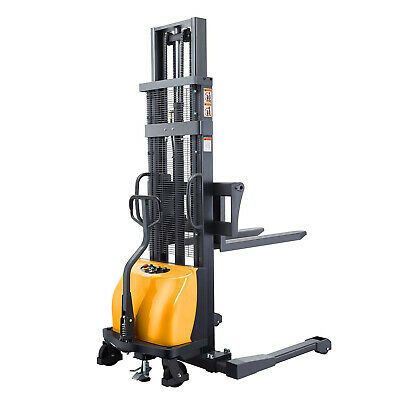 Sovans Electric Walkie Pallet Stacker Lift Height 118 2200lb With Straddle Legs