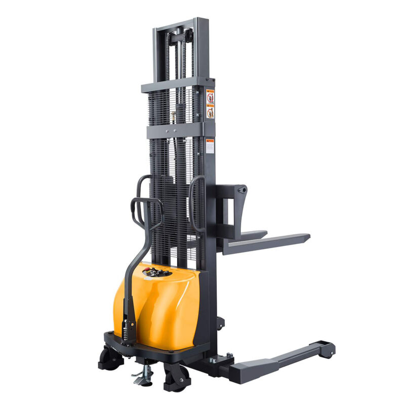 """Electric Walkie Pallet Jack Stacker Lift Height 118"""" 2200lb With Straddle Legs"""