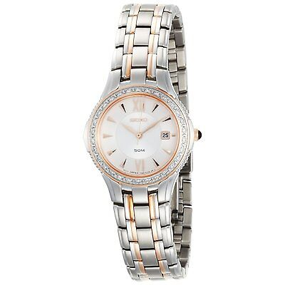 Seiko SXDA84 Two-Tone Le Grand Sport Diamond Date Womens Watch $650 - GREAT GIFT