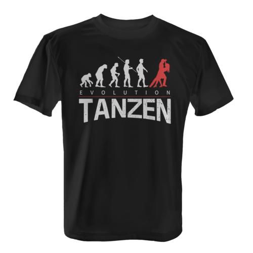 Evolution Tanzen Herren T-Shirt Fun Shirt Amateur Profi Tänzer Tanz Sport Hobby