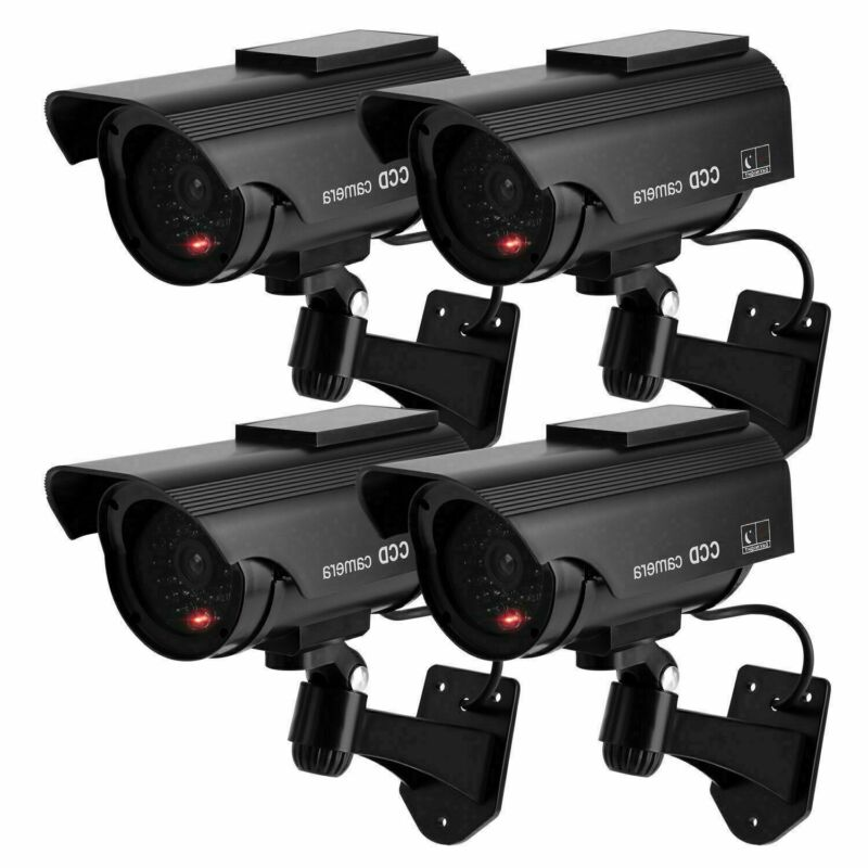 4 Pcs Fake Dummy Camera Bullet Solar Power Security CCTV Survey Camera US Stock