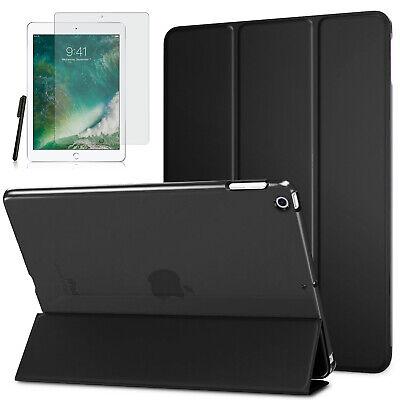 Smart Cover f. Apple iPad 9.7 2017/ 2018 Kunstleder Schutzhülle +Folie Schwarz-3 Leder Smart Cover